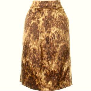NWOT J. Crew Silk Blend Knee Length Skirt